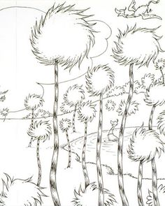 Lorax Coloring Page  Sewing and Crafts  Pinterest  Lorax