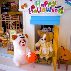 .@momos_gallery | Papillon Halloween , Needle Felting