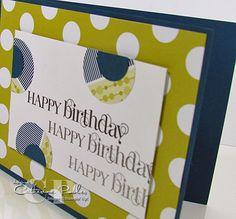 Nice Masculine Birthday Card Idea!