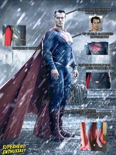 The new Superman suit for Batman v Superman