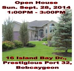 Going to #Bobcaygeon #KawarthaLakes  #Ontario Fair Sunday? Pop by this #OpenHouse 1-3 pm Visit Play - Hey why not stay?