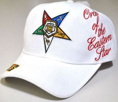 Eastern Star - baseball cap - white