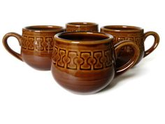Vintage Mugs Cambrian Stoneware made in Japan by NoNameCatVintage, $34.00