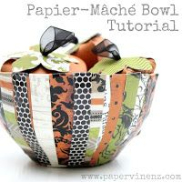 PaperVine: Halloween / Fall Bowl and Pumpkin Tutorial (Echo Park) - Could be done with so many different papers that possible uses and CUTENESS of this bowl are endless! Paper Mache Bowls, Paper Bowls, Pumpkin Uses, Paper Pumpkin, Fun Crafts, Diy And Crafts, Paper Crafts, Paper Art, Diy Projects To Try
