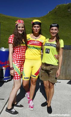 The Tour of Austria had a great way of showing off the leaders jerseys.