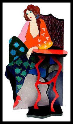 Itzchak Tarkay ORIGINAL Painting Sculpture Acrylic