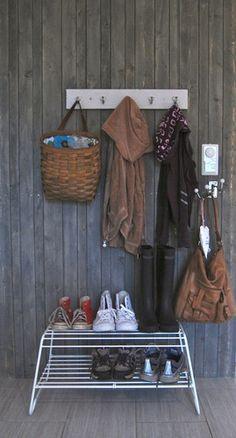 Skohylla! Minner om Hay. Produsent?? Mudroom, Wardrobe Rack, Sweet Home, Hallways, Entryway, Basket, Rooms, Furniture, Bathroom