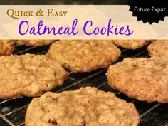Quick & Easy Oatmeal Cookies Recipe perfect for a quick dessert or your Christmas cookie tray.