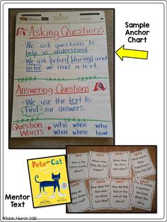 Ask and answer questions lesson plan rl 1 1