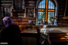 02-04 People in a holy mass in the church of Slavutich, Ukraine,... #slavutych: 02-04 People in a holy mass in the church of… #slavutych