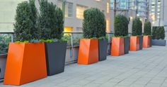 PotInc's Custom Planters | nice bright geometric planters | adamchristopherdesign.co.uk