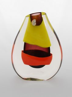 "Colorful Murano ""Sommerso"" Vase by Luciano Gaspari"