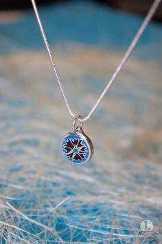 Silver Pendant, Cloisonne Pendant, Enamel Pendant, Silver Necklace, CORNFLOWER, Blue enamel, Estonian Jewelry, Silver by LEnamelArt on Etsy https://www.etsy.com/au/listing/258553358/silver-pendant-cloisonne-pendant-enamel