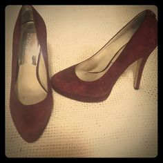 ❗️PRICE DROP❗️ Michael Kors Maroon Suede Heels Michael Kors Maroon Suede Heels - worn three times and in great condition - very slight material nick on very bottom of right heel. Beautiful maroon suede color. Size 9 and true to size. A great date night shoe and/or girls' night out shoe! Michael Kors Shoes Heels