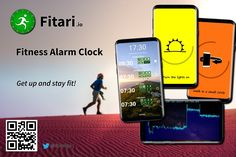 Get up and stay fit with the Fitness Alarm Clock! Stay Fit, Alarm Clock, Android Apps, Lights, Make It Yourself, Fitness, Projection Alarm Clock, Keep Fit, Alarm Clocks
