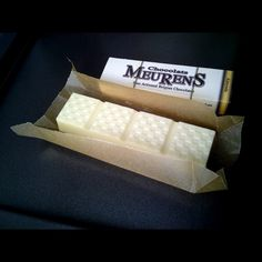 Premium White Chocolate bar with Roasted Almonds and by chocola, $5.00