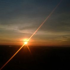 Sunset in Abang Temple