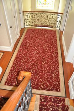 Custom Stair Runner Design Ideas, Pictures, Remodel and Decor Axminster Carpets, Stairs, Design Ideas, Pictures, Beautiful, Home Decor, Photos, Stairway, Decoration Home