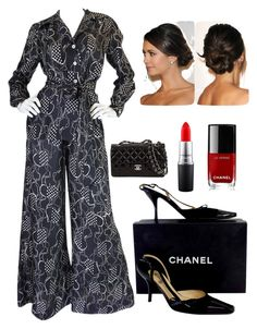 """""""Dinner Party Fashion"""" by kotnourka ❤ liked on Polyvore featuring Chanel and MAC Cosmetics"""