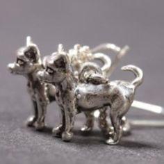 Chihuahua (smooth coat) silver EARRINGS (hooks)