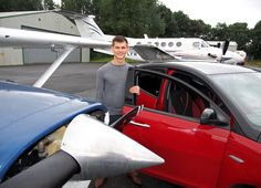 A HIGH-FLYING teenager is on the road to success after gaining a private pilot's licence and passing his driving test within days.