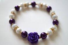 Resultado de imagen para pulseras de perlas de colores de cristal