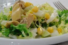 Fennel, corn and artichoke salad - Discover the best way to prepare fennel, corn and artichoke salad in 15 minutes. Only 175 kcal per - Raw Food Recipes, Brunch Recipes, Italian Recipes, Salad Recipes, Healthy Recipes, Artichoke Salad, Cold Dishes, Salty Foods, Weird Food