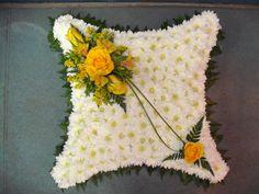 Made by Meades Florist. www.meadesflorist.com Funeral Floral Arrangements, Modern Floral Arrangements, Flower Arrangements, Casket Flowers, Funeral Flowers, Heart Cushion, Memorial Flowers, Sympathy Flowers, Ikebana