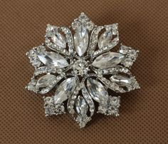 Cheap brooch unique, Buy Quality brooch base directly from China brooch collar Suppliers:  crystal flowerbrooches rhinestone alloy fashion new design brooches for women high quality jewelry length 5cm   h