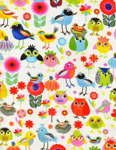 owls & birdies pattern ♥