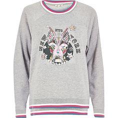 Grey embellished print sweatshirt £35.00