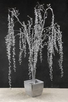 Crystal Trees foot Hanging Crystal Vines Silver Wood Pot adorable wishing tr… Banyo – home accessories Tree Centerpieces, Tree Decorations, Wedding Decorations, Christmas Decorations, Bamboo Art, Crystal Tree, Felt Leaves, Branch Decor, Hanging Crystals