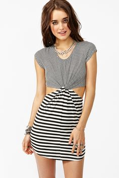 Knotted Line Dress