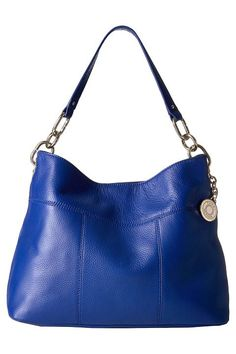 Tommy Hilfiger Tommy Signature Pebble Hobo (Cobalt) Hobo Handbags - Tommy Hilfiger, Tommy Signature Pebble Hobo, 6924558-968, Bags and Luggage Handbag Hobo, Hobo, Handbag, Bags and Luggage, Gift, - Street Fashion And Style Ideas