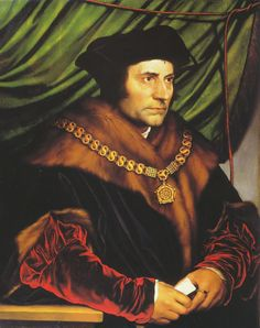 1527-Portrait of Sir Thomas More. Oak, 74.2 × 59 cm. Frick Collection, New York. Holbein arrived in England in late 1526 in search of work, bearing an introduction from the humanist scholar Erasmus, for whom he had worked in Basel, to his friend Thomas More, the English lawyer, scholar, and statesman. Holbein was welcomed as a guest by More, who found him commissions and ordered various works from him, including a portrait of his family (the original is lost but a sketch and copies by other…