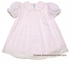 Feltman Brothers Baby Girls Sweet Pink Dress & Slip Set with Lace