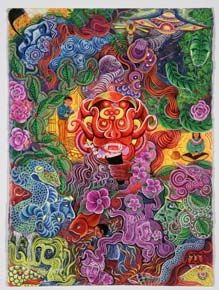 The Ayahuasca Visions of Pablo Amaringo - Pablo Amaringo Paintings - Fine Art Prints & Reproductions For Sale