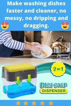 Household Cleaning Tips, House Cleaning Tips, Cleaning Hacks, Baking Powder Uses, Baking Soda On Carpet, Dish Soap Dispenser, Soap Pump, No Waste, Washing Dishes