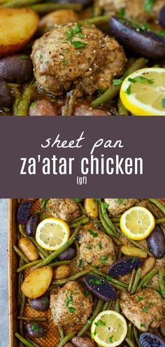 WMF Cutlery And Cookware - One Of The Most Trustworthy Cookware Producers An Easy, One-Pan Meal, This Sheet Pan Za'atar Chicken With Potatoes And Green Beans Is The Perfect Nourishing Dinner For A Busy Weeknight. Zatar Recipes, Healthy Recipes, Free Recipes, Keto Recipes, One Pan Meals, Main Meals, Chicken Potatoes, Easy Weeknight Meals, Sheet Pan