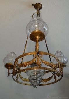 ANTIGUA LAMPARA MODERNISTA 1910 - 1920