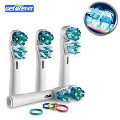 4 UNIDS Dual Clean SB417A Oral B Reemplazo de Cabezas de Cepillo de Dientes Eléctrico Jefes Cepillo de Dientes Oral Higiene Limpieza Herramientas de Los Dientes