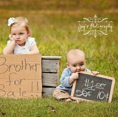 I think I've pinned this or similar, but it's so darn cute and I think my little man thinks this way of his little sister!