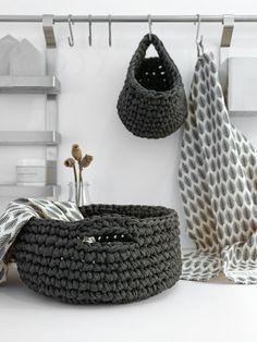 DIY | praktische Häkelkörbe für die Küche | mxliving                                                                                                                                                      Mehr