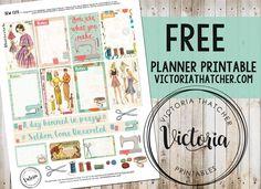 Free planner printable : Sew Cute