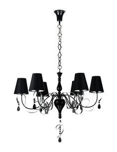 Elegant Kronleuchter Intreccio Black https://www.kronleuchterhaus.de/collections/kronleuchter-mit-schirm/products/eleganter-kronleuchter-intreccio-black-arm010-06-r