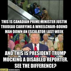 What a real leader of a free country looks like versus Donald Trump.