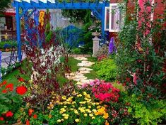 I love the colors Flower Beds, House Rooms, Container Gardening, Landscape Design, Outdoor Living, Exterior, Outdoor Structures, Naver, Plants