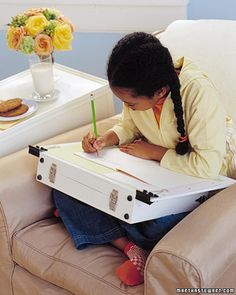 Portable Desk - keep your homework organized! Back to School.