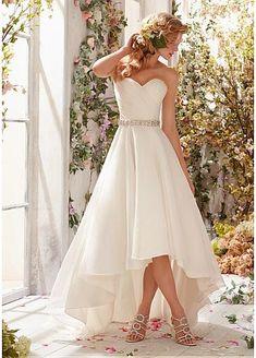 Charming Organza Satin & Satin Sweetheart Neckline Natural Waistline A-line Wedding Dress