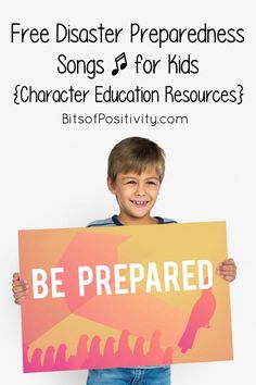 Free Disaster Preparedness Songs for Kids {Character Education Resources} Tornado Preparedness, Disaster Preparedness, Kid Character, Character Education, Natural Parenting, Helping Children, Kids Songs, Natural Disasters